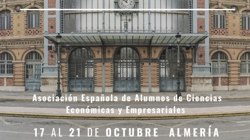 Cartel promocional del congreso celebrado en Almería.