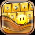 Gold Glitter Emoji Keyboard apk