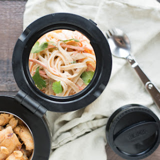 Garlic Chicken with Cold Asian Noodle Salad