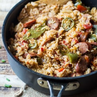One Pot Spicy Southern Sausage and Rice.