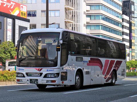 西鉄高速バス「フェニックス号」 9907 福岡天神にて
