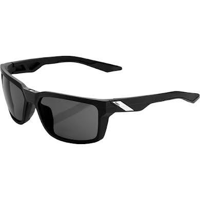 100% Daze Sunglasses: Soft Tact Black Frame with Smoke Lens