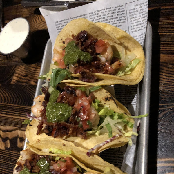 Shrimp BLt tacos ! Outstanding