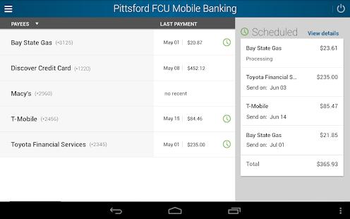 Pittsford FCU Mobile Banking - screenshot thumbnail