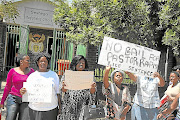Protesters  oppose  bail for  the pastor accused of   rapes  in Seshego, Limpopo, in 2012.  The pastor, who was given bail,  faces two other rape charges in the Mankweng magistrate's court.