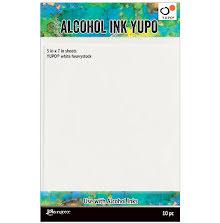 Tim Holtz Alcohol Ink Yupo Paper 144lb 10/Pkg 5X7 - White