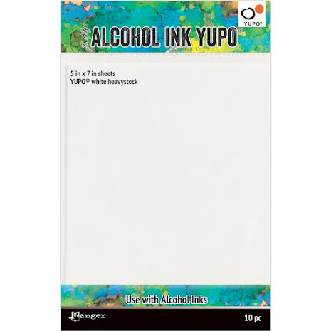 Tim Holtz Alcohol Ink Yupo Paper 144lb 10/Pkg 5X7 - White
