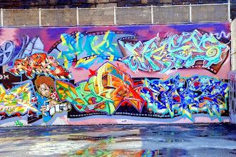 Photo: Graffiti Hall of Fame, 106th Street and Park Avenue. Your Home East Harlem, on December 14, 2007. (© Frances Roberts)   Original Filename: eharlem_8031.JPG