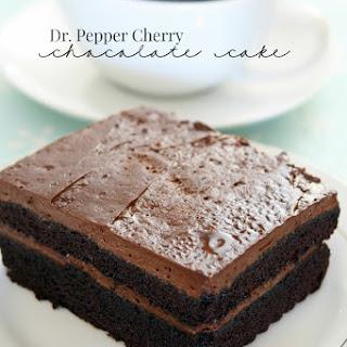 CHERRY DR PEPPER CHOCOLATE LAYERED CAKE
