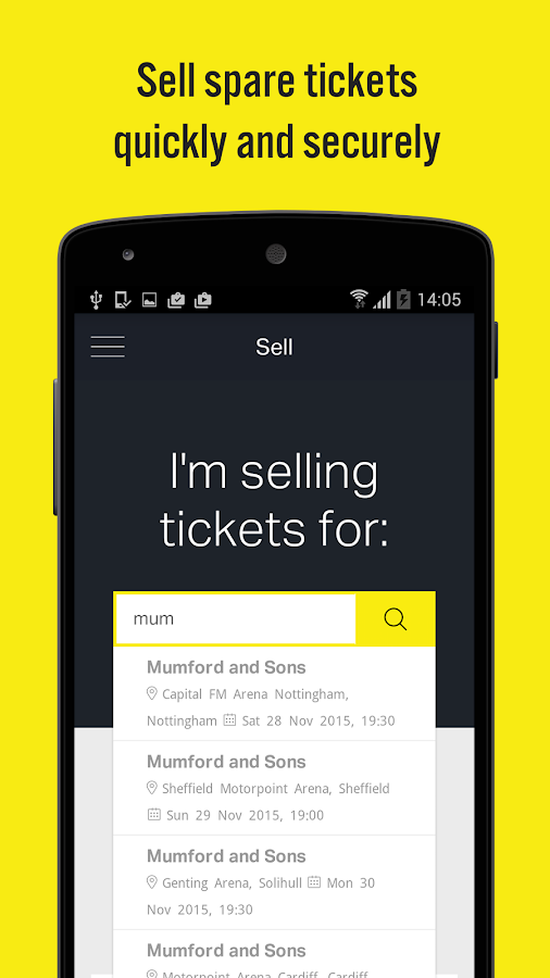Twickets- screenshot