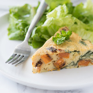Spinach & Sweet Potato Chickpea Crustless Quiche Recipe
