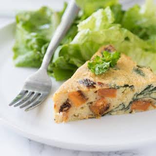 Spinach & Sweet Potato Chickpea Crustless Quiche.