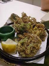 Photo: もずくとアーサーの天ぷら。あちこーこーです。