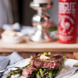 Stout Steak with Sriracha Beer Butter For Two