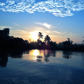 Sunset in the River by Raja Lazuardi - Instagram & Mobile iPhone