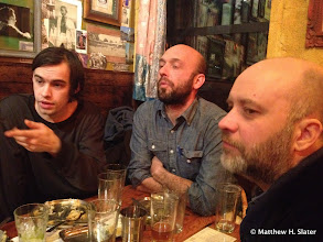 Photo: Drinks after my talk with philosophers (faculty + students)