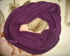 Photo: вязаный шарф-снуд