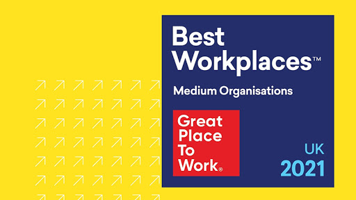 Rimini Street UK Recognized in the Top Ten of the 2021 UK's Best Workplaces™ (Graphic: Business Wire)