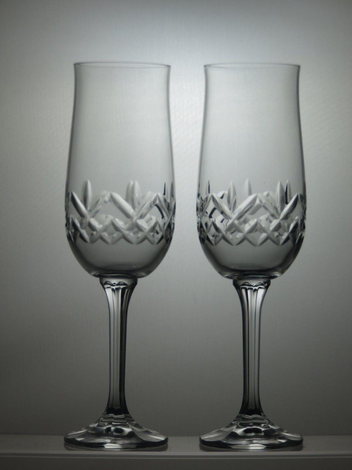 Cut Gl Lead Crystal Champagne Flutes