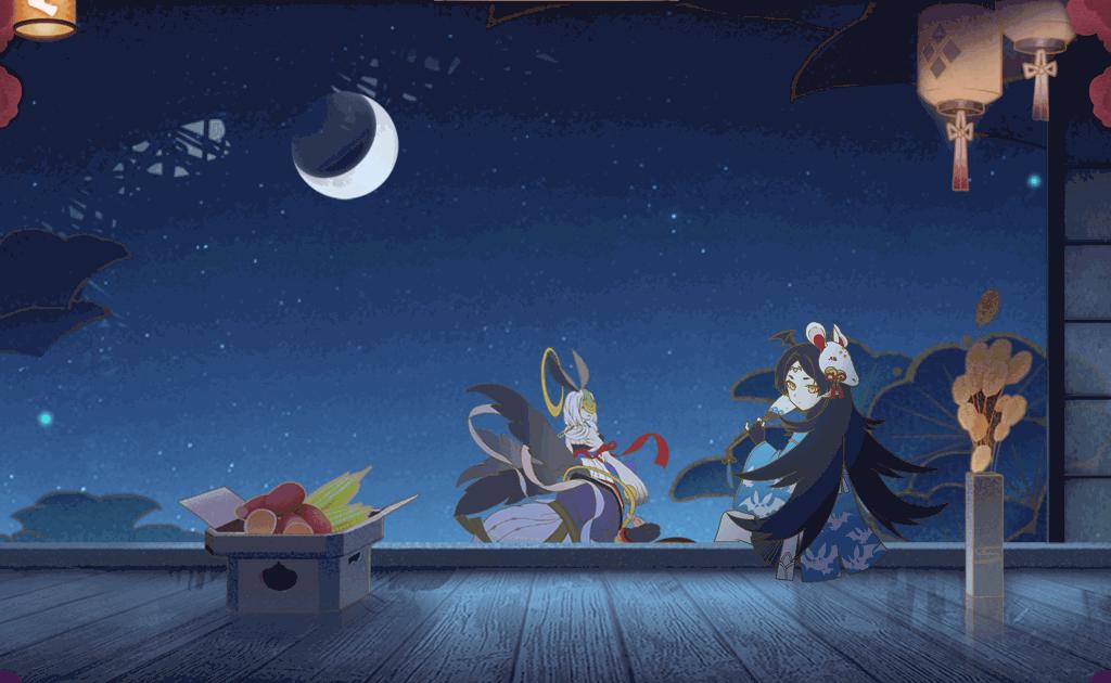 蒼輝の月飾り付け