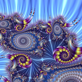 Shells 2 by Cassy 67 - Illustration Abstract & Patterns ( digital, love, harmony, surreal, abstract art, trippy, shells, spiral, abstract, creative, fractals, digital art, psychedelic, swirl, modern, light, fractal, fracta lart, style, energy, fashion )