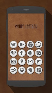 White Leather Icon Pack v2.5.0 [Paid] APK [Latest] 1