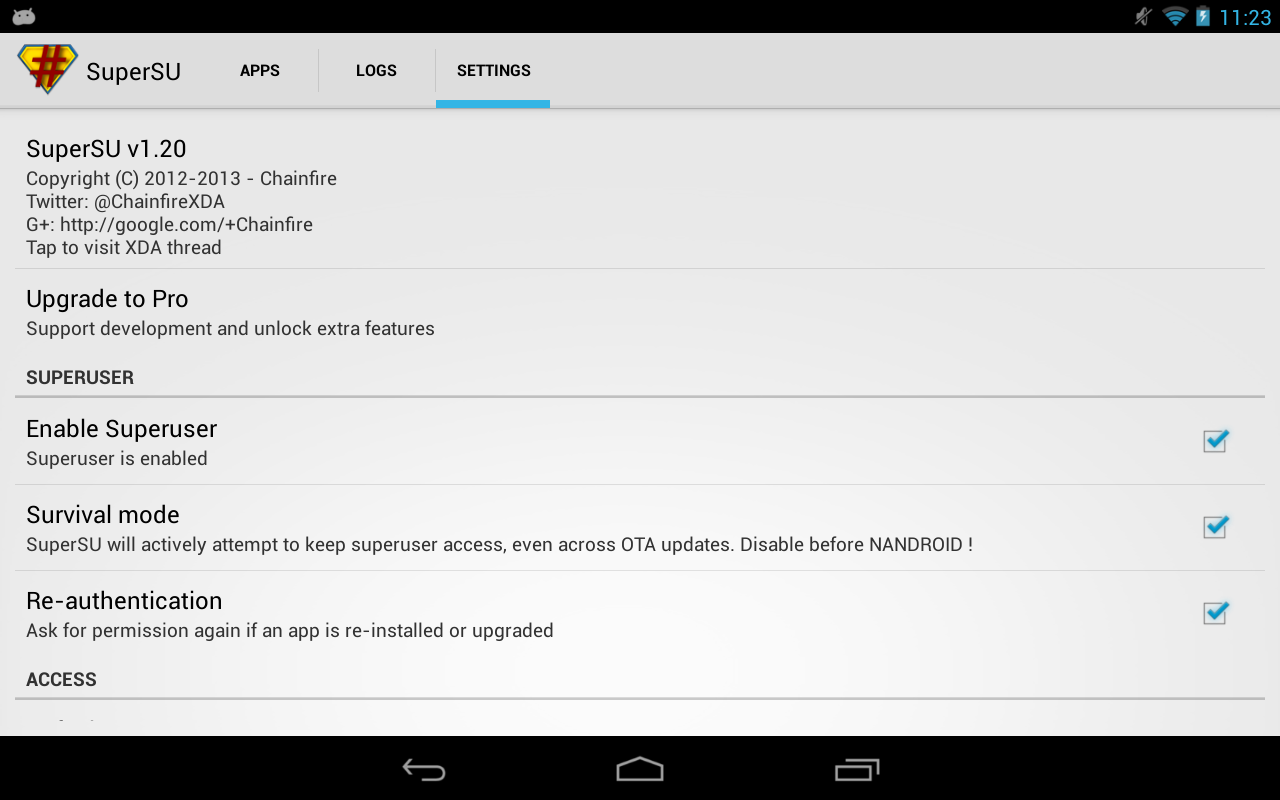SuperSU Pro für Android   Apk Herunterladen