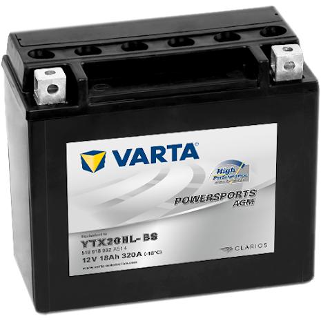 VARTA Mc-batteri AGM 12v 18Ah YTX20HL-BS 320cca