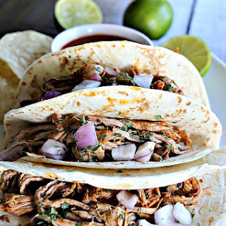 Slow Cooker Chile Lime Pork Tacos