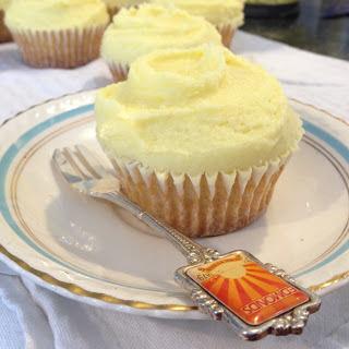 Jam and Custard Cupcakes.