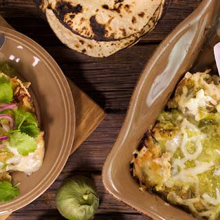 Rotisserie Chicken Enchiladas Verdes