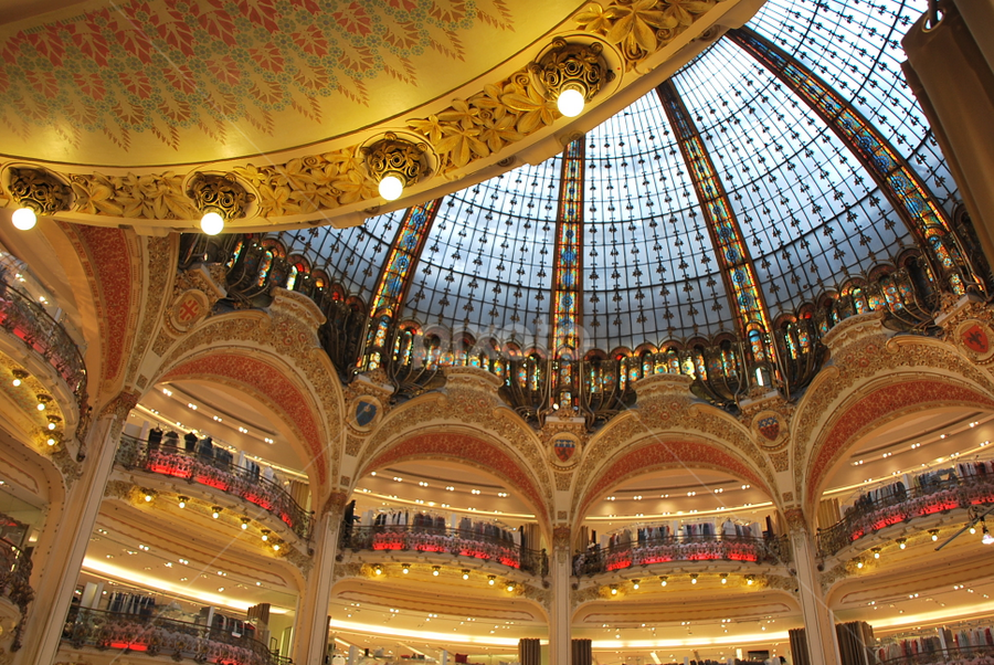 Galeries Lafayette by Azzah Rahman - Buildings & Architecture Other Interior ( paris, champ elysee, galeries lafayette, france, shopping )
