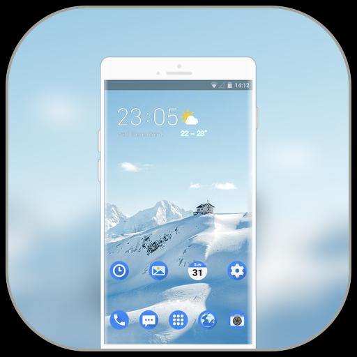 Theme for nokia8 pure white snow icon