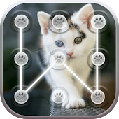 Cute Cats Lock Screen Pattern App