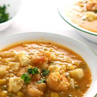 Peruvian Shrimp Soup.