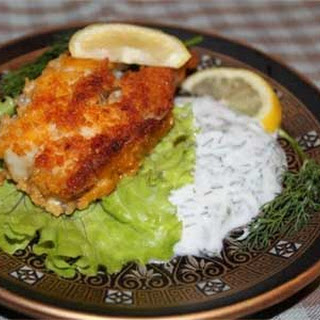 Fried Red Snapper with Garlic Yogurt Sauce