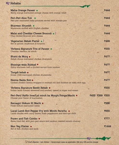 Verbena-Brewpub And Sky Garden menu 5