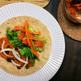 Red Hot Chili Pepper Hummus + Veggie Wraps