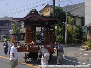 Photo: 【平成16年(2004) 宵々宮】 山車も囃子連本部に移動。