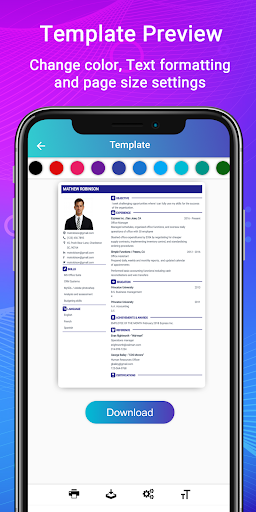 Resume Builder App Free CV maker CV templates 2020 Apk 2