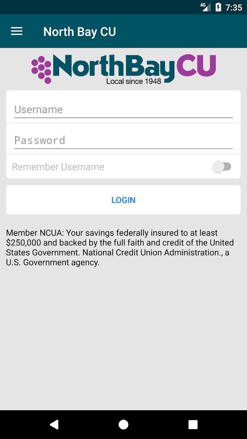 North Bay Credit Union- screenshot