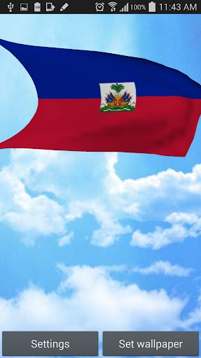 Haiti Flag 3D Live Wallpaper