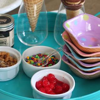 Ice Cream Cone Sundae Bar