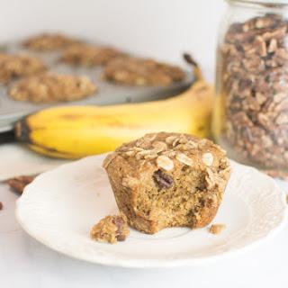 Low/No Sugar Banana Pecan Muffins.