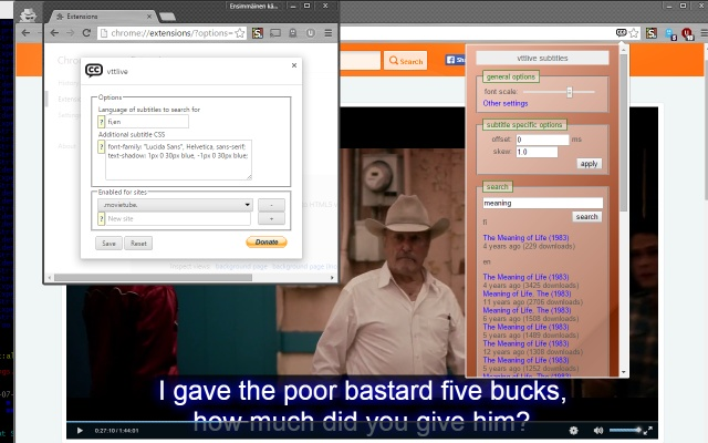Vttlive chrome web store add subtitles from internet as vtt tracks to html5 video element on the page ccuart Choice Image