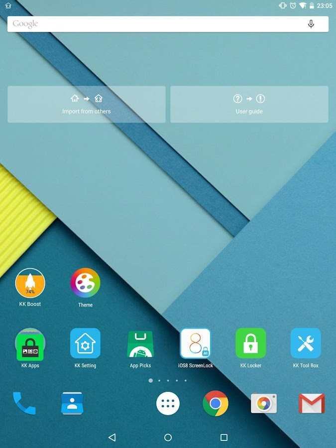 KK Launcher (Lollipop launcher - screenshot