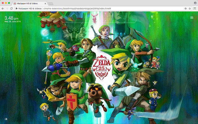 Legend of Zelda HD Wallpaper New Tab