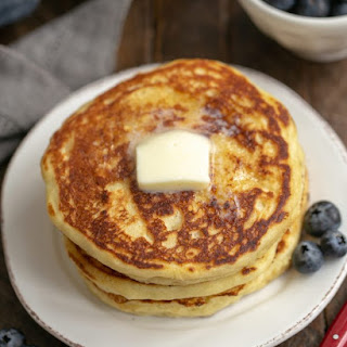 Buttermilk Pancakes with Blueberry Maple Syrup Recipe