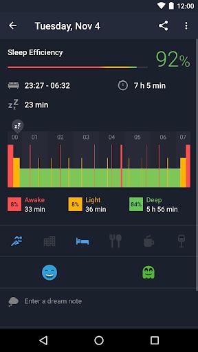 Runtastic Sleep Better: Sleep Cycle & Smart Alarm 2.6.1 screenshots 2