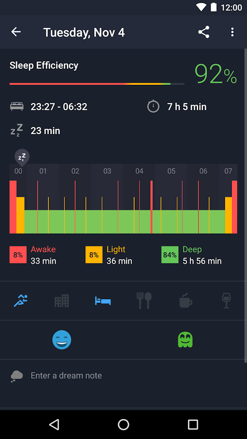 Sleep Better with Runtastic- screenshot